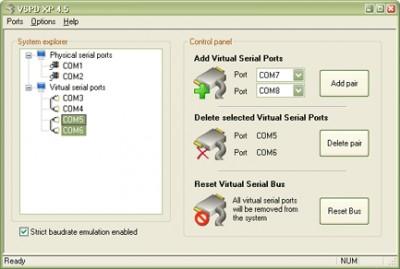 Virtual Serial Port Driver XP4.5 4.5 screenshot