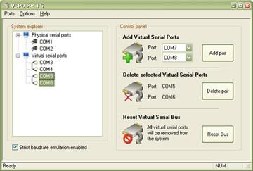 Virtual Serial Ports Driver XP 4.0 screenshot