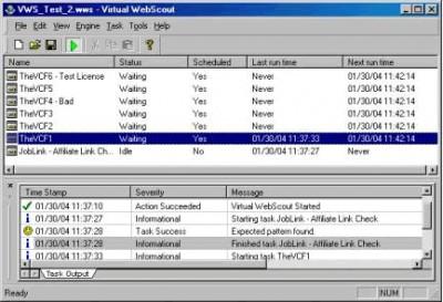 Virtual Web Scout 1.0 screenshot