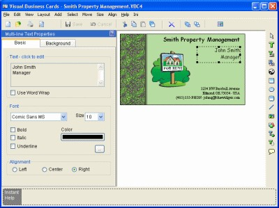 Visual Business Cards 4.30 screenshot