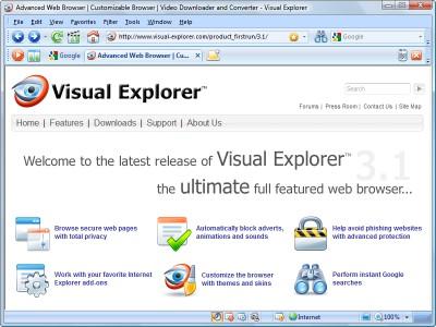 Visual Explorer 3.2 screenshot