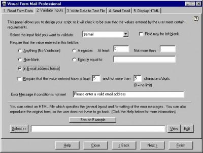 Visual Form Mail 1.6.02 screenshot