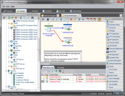 Visual Importer ETL Professional 32 Bit 9.2.4.4 screenshot