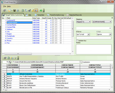 Visual Importer ETL Standard 32 Bit 5.4.3.32 screenshot