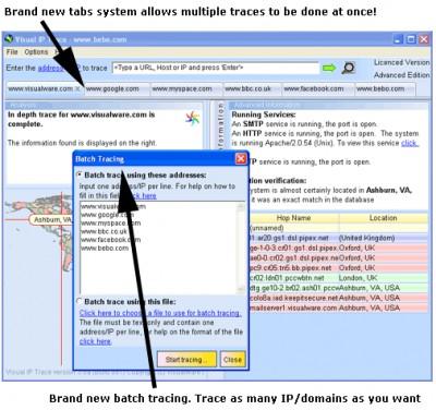 Visual IP Trace 5.0e screenshot