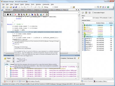 Visual Lint Professional Edition 2.5.0 screenshot