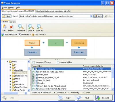 Visual Renamer 1.9 screenshot