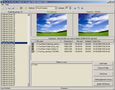 Visual Similarity Duplicate Image Finder 1.6.0.1 screenshot