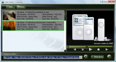 ViVi iPod Converter 2.1.10 screenshot