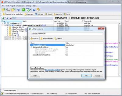 VMProtect 3.0 screenshot