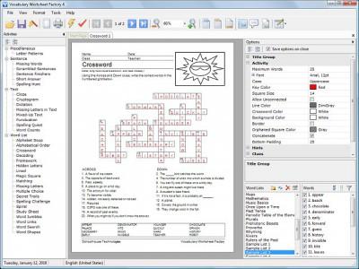 Vocabulary Worksheet Factory 4.1.4 screenshot