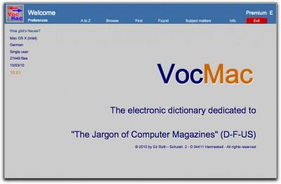 VocMac 2010 (WIN) 10_01 screenshot