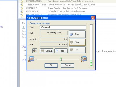 Voice2Mail 1.00 screenshot