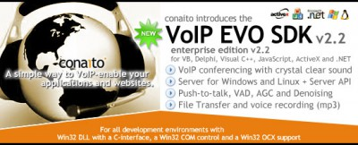 VoIP EVO SDK with DLL, OCX/ActiveX, COM, C-interfa 2.2 screenshot