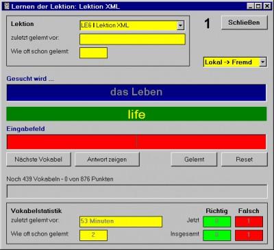 VokManXML 2.3 screenshot