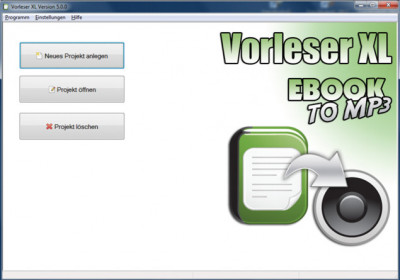 Vorleser XL - EbookToMP3 7.0.2 screenshot