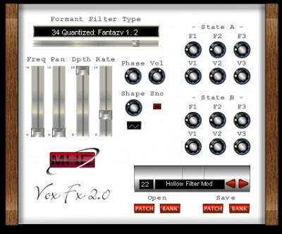 Vox FX Mac 2.0.2 screenshot