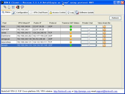 VPN-X 2.5.1.47 screenshot