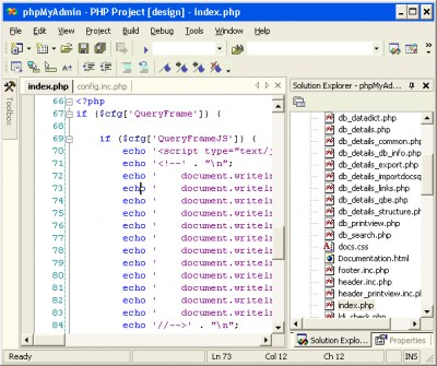 VS.Php for Visual Studio .Net 2003 2.3.6.4068 screenshot