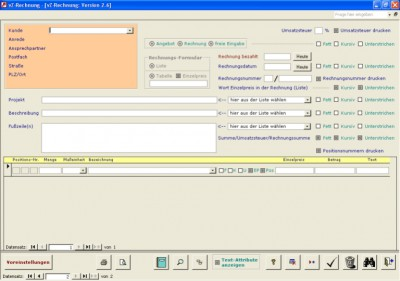 vZ-Rechnung (Access 2000) 2.6 screenshot