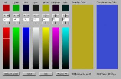 Wacker Art RGB Color Mixer 1.4 screenshot