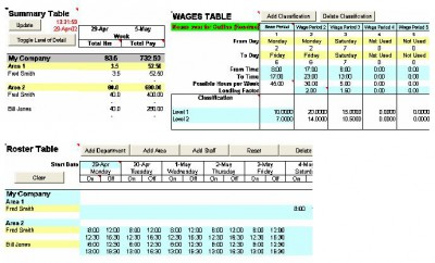 Wage Calculator Excel 30 screenshot