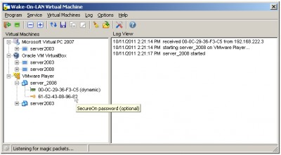 Wake-On-LAN Virtual Machine 1.0.253 screenshot