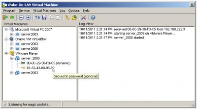 Wake-On-LAN Virtual Machine 1.0.624 screenshot