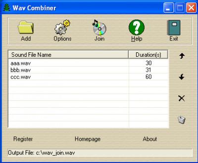 Wav Combiner 1.2.0.9 screenshot