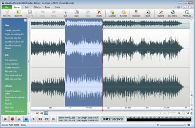 Wavepad Audio Editor 7.05 screenshot