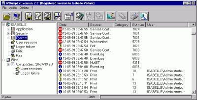 WDumpEvt 2.2 screenshot