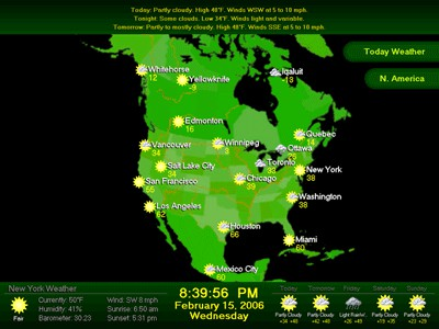 Weather Report Screensaver 1.3.1166 screenshot