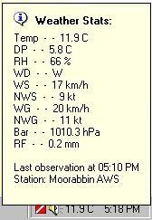 Weather Stats (Australian only) 1.3.9 screenshot