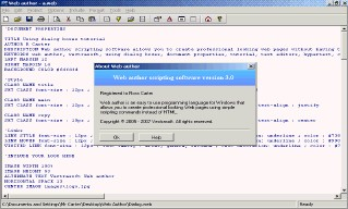 Web author scripting software. 3.5 screenshot