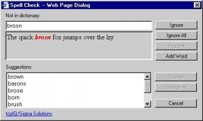 Web Browser Spell Check 1.3 screenshot
