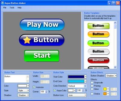 Web Button Maker Aqua 1.1 screenshot