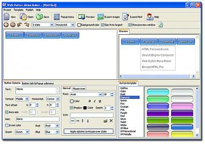 Web Button Menu Maker 3.2 screenshot