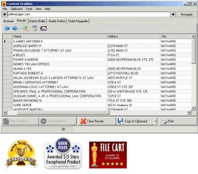 Web Content Grabber 3.5.0.1 screenshot