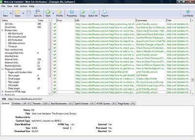 Web Link Validator 5.7 screenshot
