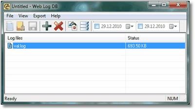 Web Log DB 3.8 screenshot