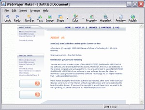 Web Page Maker 3.0 screenshot