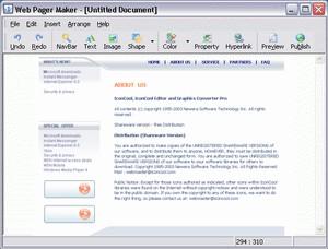 Web Page Maker 3.0 screenshot