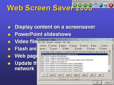 Web Screen Saver 2010SE screenshot