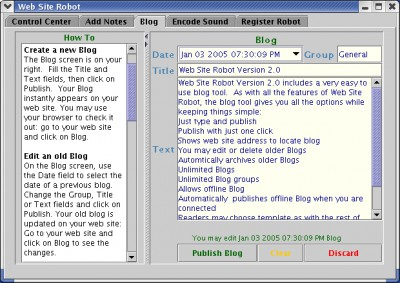 Web Site Robot 2.4 screenshot