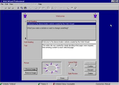 Web Wizard Professional Edition 1.0 screenshot