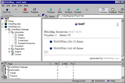 Web2Map 1.1 screenshot