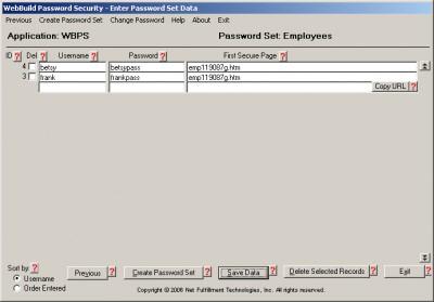 WebBuild Password Security 1.1.0 screenshot