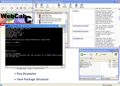 WebCab Options and Futures for .NET 3.0 screenshot