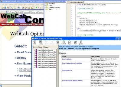WebCab Options and Futures for Delphi 3.1 screenshot