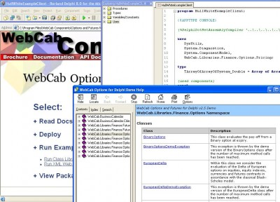 WebCab Options and Futures for Delphi 3.0 screenshot